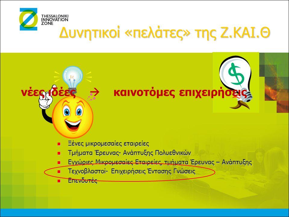 Κίνητρα εγκατάστασης εντός των ΘΥΚΔ (υπό έγκριση)   Κρατικές ενισχύσεις και ελαφρύνσεις για καινοτόμες εταιρείες   Ειδικό καθεστώς για φορείς επιχειρηματικής ανάπτυξης   Φοροαπαλλαγές για τις εγκατεστημένες εντός της Ζ.ΚΑΙ.Θ.