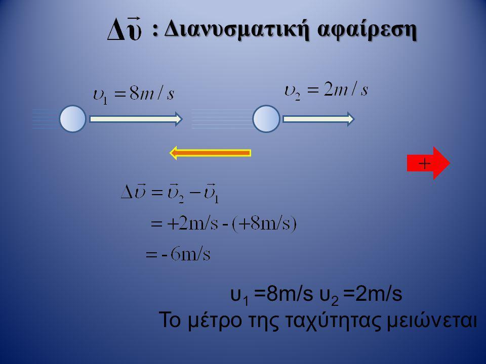 Μετατόπιση • Όταν το αντικείμενο κινείται με ταχύτητα που αλλάζει, διανύει σε ίσους χρόνους, διαφορετικές αποστάσεις.