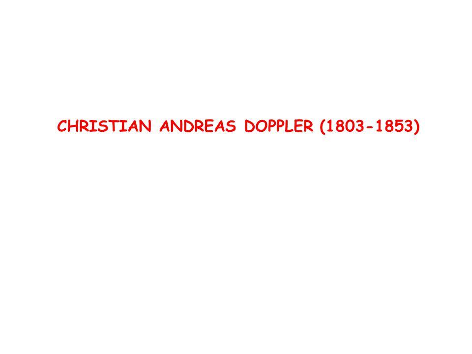 CHRISTIAN ANDREAS DOPPLER (1803-1853)