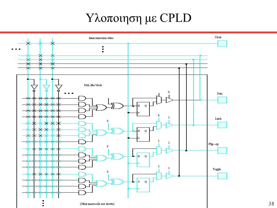 38 Υλοποιηση με CPLD