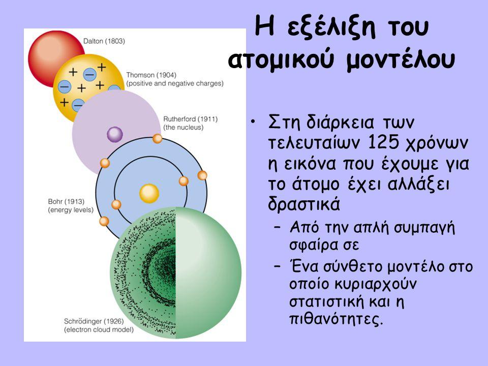 n : ΚΥΡΙΟΣ ΚΒΑΝΤΙΚΟΣ ΑΡΙΘΜΟΣ •Καθορίζει το μέγεθος του τροχιακού (ή του ηλεκτρονιακού νέφους) και την ενέργεια του ηλεκτρονίου, λόγω έλξης πυρήνα-ηλεκτρονίου.