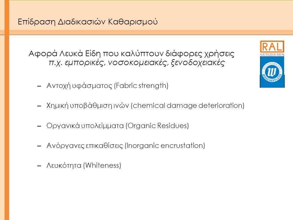 Συμμόρφωση με τη Νομοθεσία • Κανονισμός REACH  Αζωχρώματα  Νικέλιο  Φθαλικοί εστέρες  σουλφονικό υπερφθοριωμένο οκτάνιο (PFOS)  ορισμένοι επιβραδυντές καύσης  πολυκυκλικοί αρωματικοί υδρογονάνθρακες (PAH) • Σύνθεση • Μέσα ατομικής προστασίας • Κορδόνια παιδικών ενδυμάτων