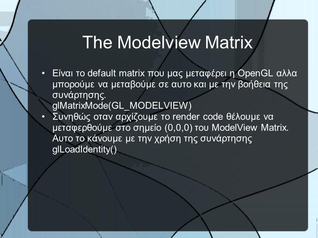 Matrix Stacks
