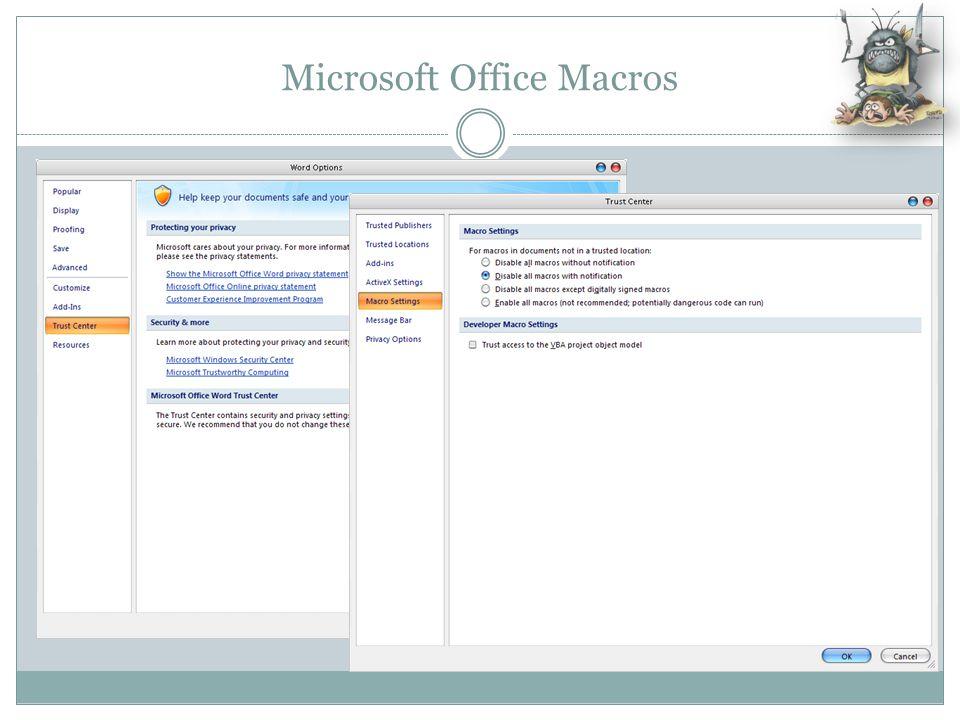 Microsoft Office Macros