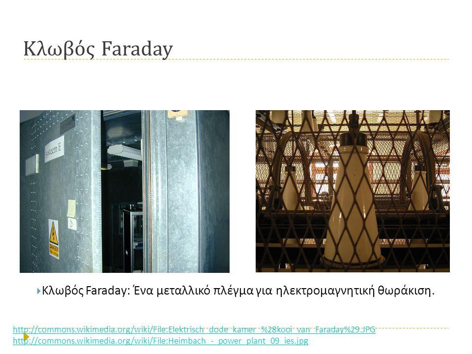 Κλωβός Faraday  Κλωβός Faraday: Ένα μεταλλικό πλέγμα για ηλεκτρομαγνητική θωράκιση.