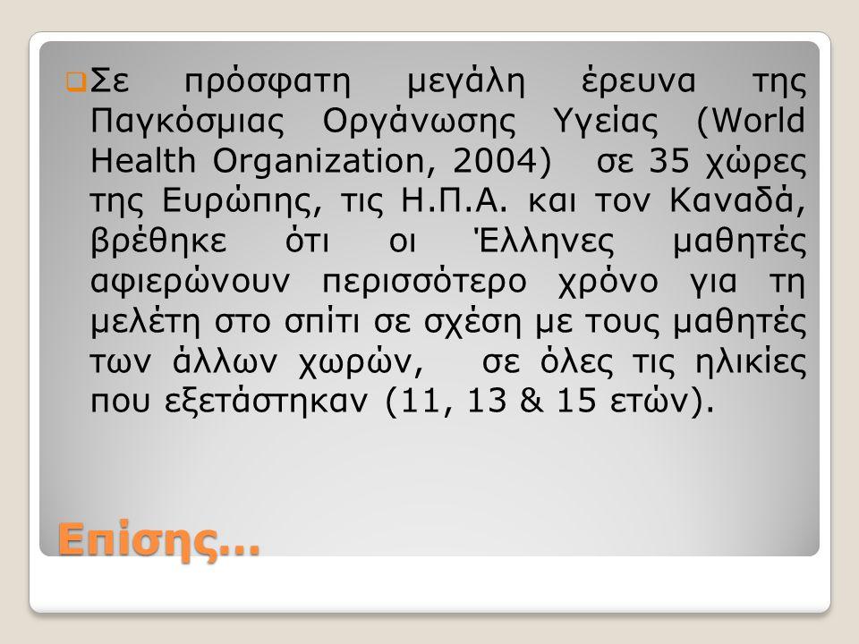 Τι λέει η Νομοθεσία…  Ο χρόνος παραμονής των Ελλήνων μαθητών στο σχολείο είναι πιο λίγος από ότι στις άλλες ευρωπαϊκές χώρες.