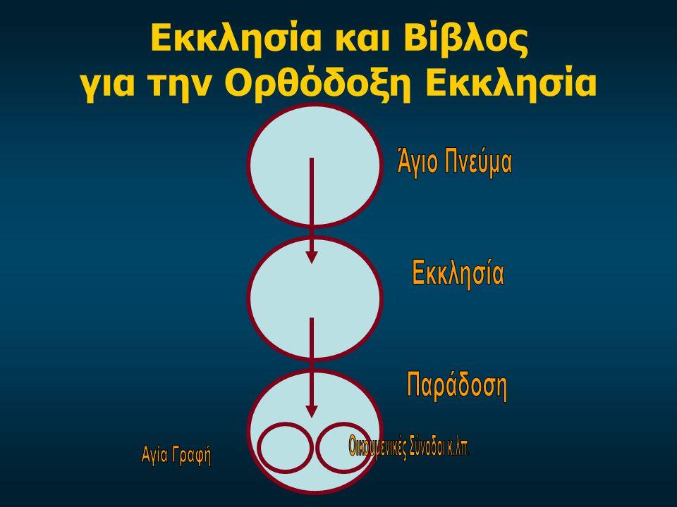 Εκκλησία και Βίβλος για την Ορθόδοξη Εκκλησία