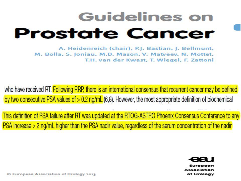 • Ο ασθενής μας για 3 χρόνια έχει μηδενικό PSA.
