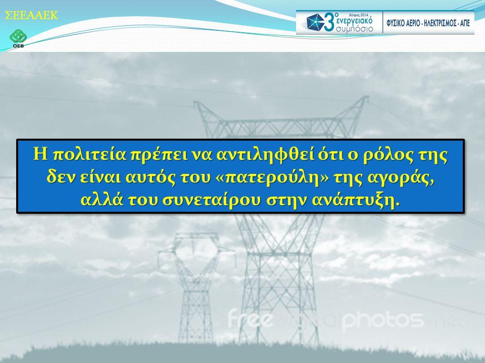 ΣΕΕΑΑΕΚ Η πολιτεία πρέπει να αντιληφθεί ότι ο ρόλος της δεν είναι αυτός του «πατερούλη» της αγοράς, αλλά του συνεταίρου στην ανάπτυξη.