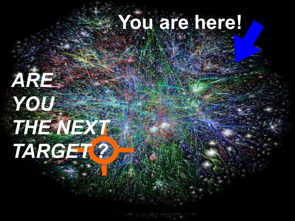 You are here! ARE YOU THE NEXT TARGET ?