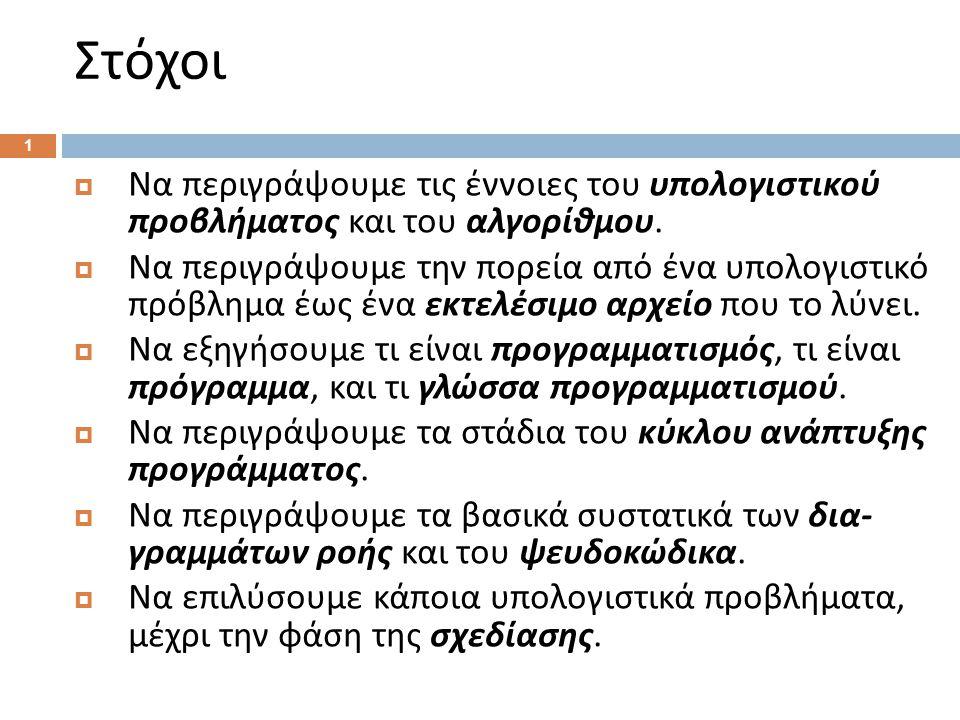 1.Αρχή.2.max ← -1. 3.Επανάληψη: 4. Διάβασε x. 5. Αν max < x τότε max ← x.