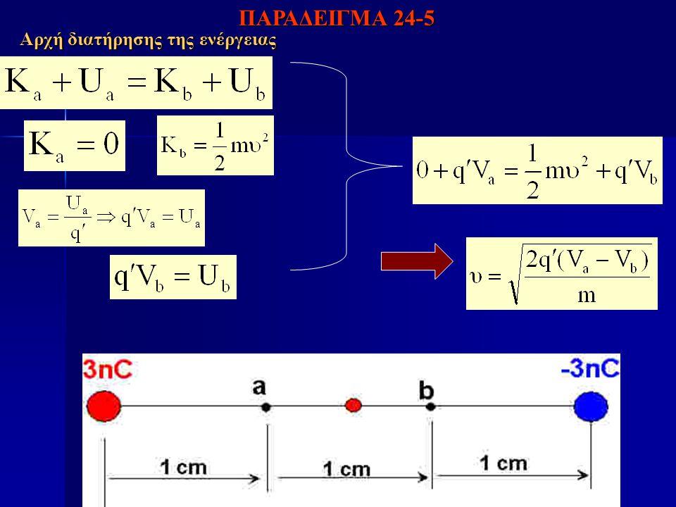 Αρχή διατήρησης της ενέργειας ΠΑΡΑΔΕΙΓΜΑ 24-5