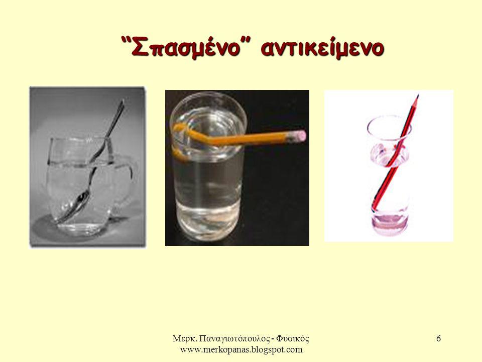 """Μερκ. Παναγιωτόπουλος - Φυσικός www.merkopanas.blogspot.com 6 """"Σπασμένο"""" αντικείμενο"""
