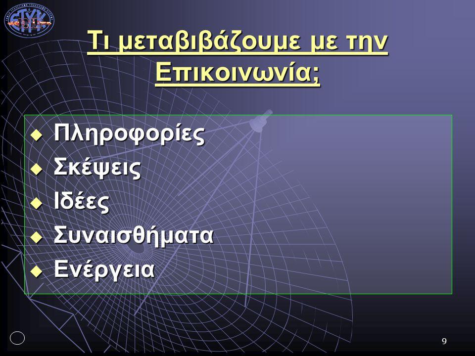 20 Ο τόνος της επικοινωνίας (ι) 1.