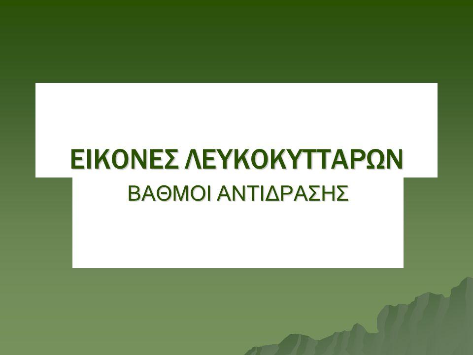 ΕΙΚΟΝΕΣ ΛΕΥΚΟΚΥΤΤΑΡΩΝ ΒΑΘΜΟΙ ΑΝΤΙΔΡΑΣΗΣ