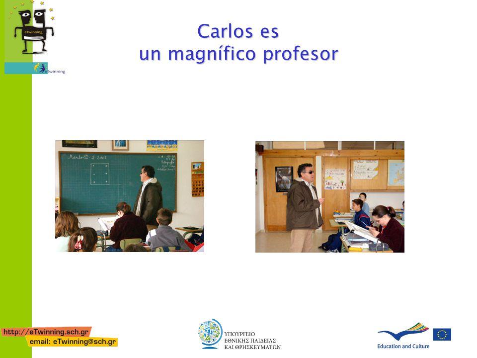 Carlos es un magnífico profesor