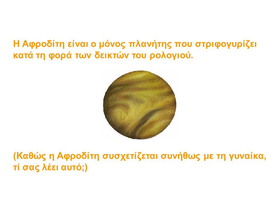 Η Αφροδίτη είναι ο μόνος πλανήτης που στριφογυρίζει κατά τη φορά των δεικτών του ρολογιού.