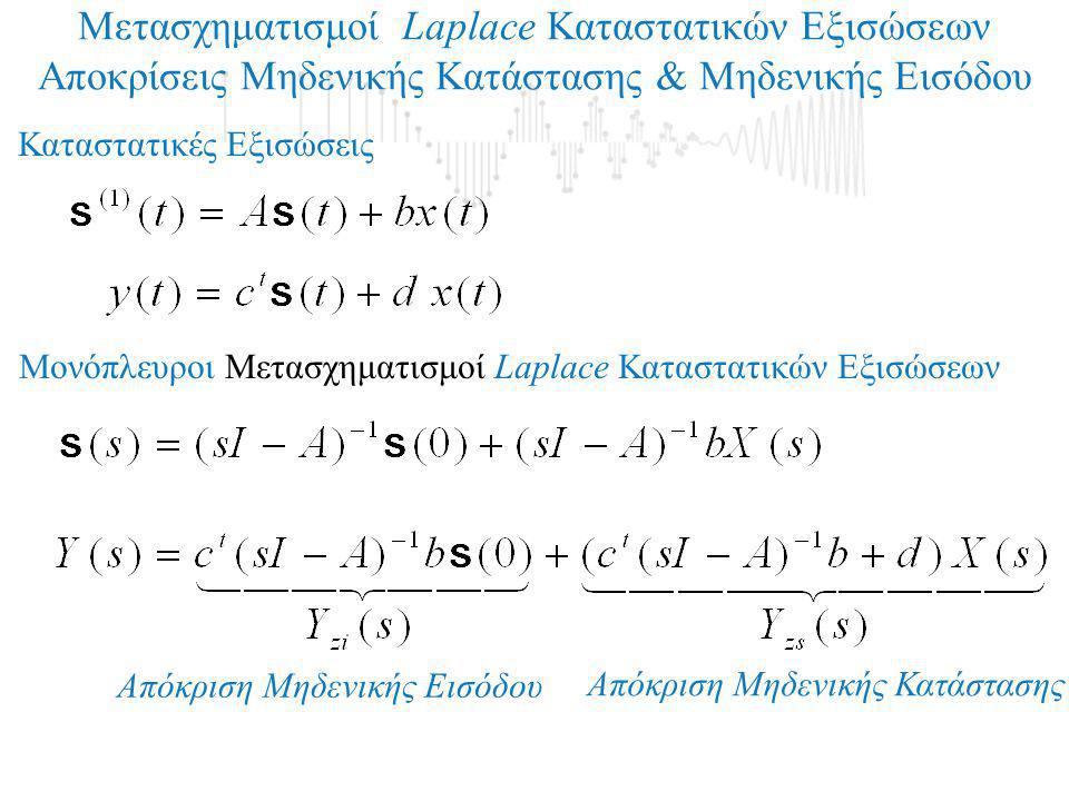To test των Popov-Belevitch-Hautus (PBH) 1.To ζευγάρι {Α, c} δεν είναι παρατηρήσιμο όταν και μόνο όταν: 2.