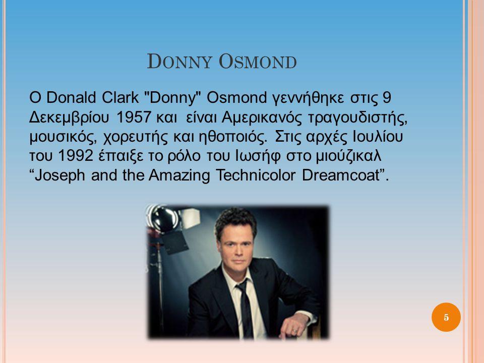 D ONNY O SMOND Ο Donald Clark