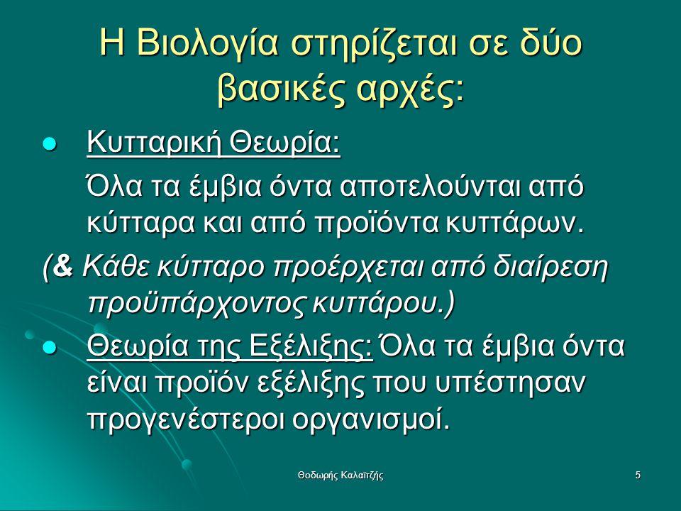 16 3.1.3 Η θεωρία της φυσικής επιλογής (1809: έτος γέννησης Κ.