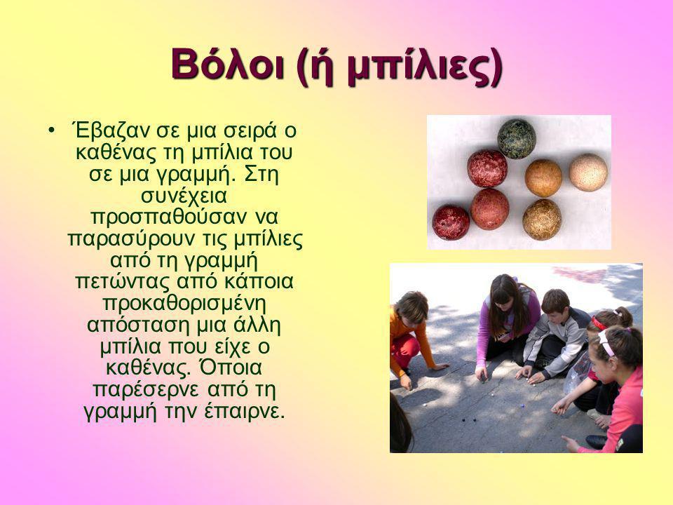 Βιβλιογραφία- Δικτυογραφία •Σαγώνας.Κ.Γιώργος-Παραδοσιακά Παιγνίδια- APEX E.Π.Ε •http://www.rizovouni.gr/palaia_omadika_paixnidia.htmlhttp://www.rizovouni.gr/palaia_omadika_paixnidia.html •http://users.sch.gr/grfilip/games/games_katalogos.htmhttp://users.sch.gr/grfilip/games/games_katalogos.htm