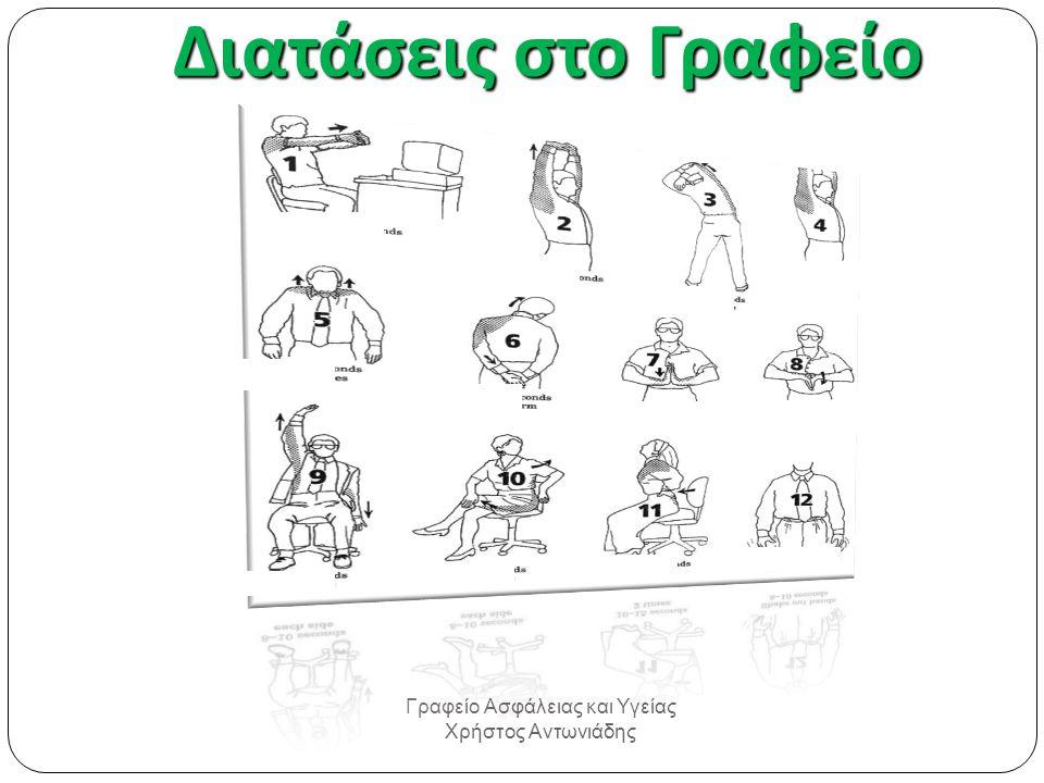 Διατάσεις στο Γραφείο Γραφείο Ασφάλειας και Υγείας Χρήστος Αντωνιάδης