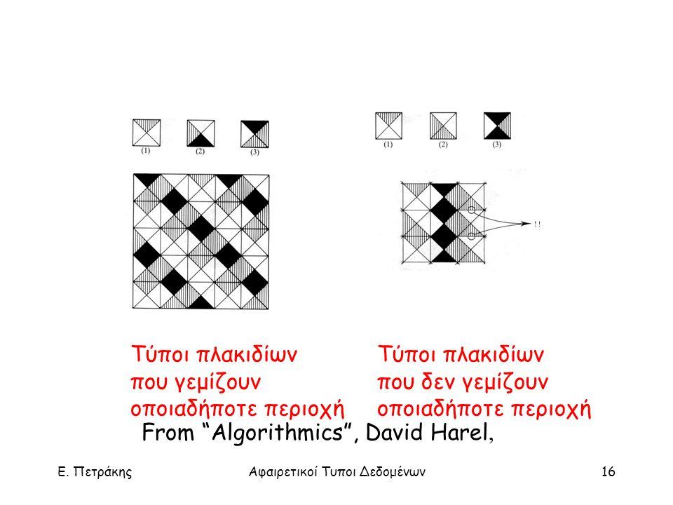 "E. ΠετράκηςΑφαιρετικοί Τυποι Δεδομένων16 Τύποι πλακιδίων που γεμίζουν οποιαδήποτε περιοχή Τύποι πλακιδίων που δεν γεμίζουν οποιαδήποτε περιοχή From ""A"