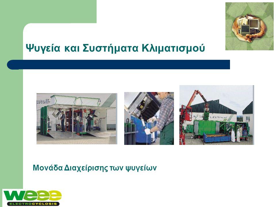 Ψυγεία και Συστήματα Κλιματισμού Μονάδα Διαχείρισης των ψυγείων