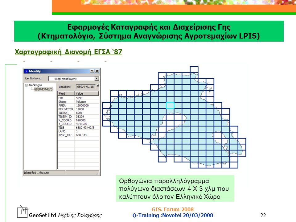GeoSet Ltd Μιχάλης Σαλαχώρης GIS.