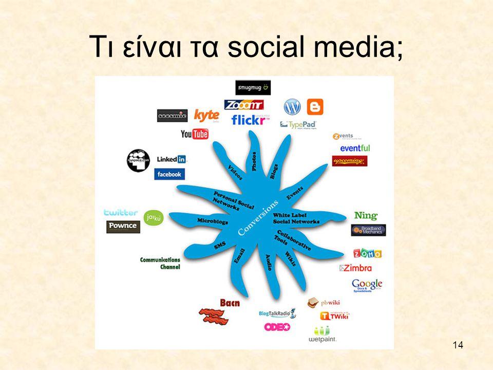 14 Τι είναι τα social media;