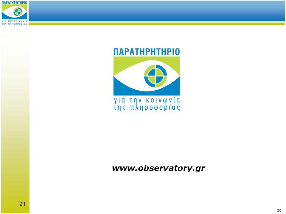 21 www.observatory.gr 30