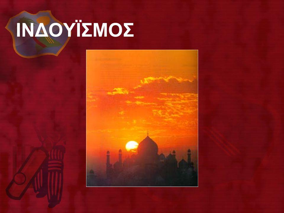 • • Aσκητής διαλογίζεται κοντά στις πηγές ιερού ποταμού της Iνδίας, που εκπρο-σωπείται από τη θεά Γιαμούνα και συνδέεται με σημαντικές θεογονικές παραδόσεις.