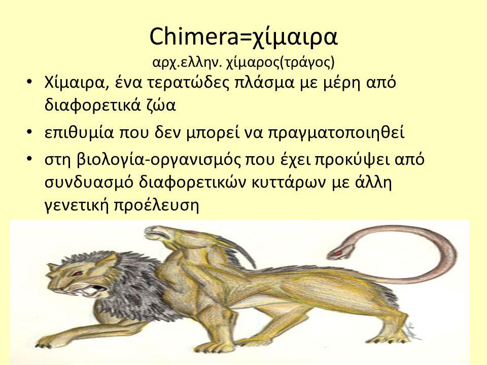 Chimera=χίμαιρα αρχ.ελλην.