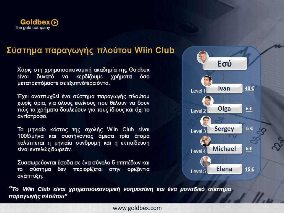 Εσύ Elena Ivan Olga Sergey Michael Σύστημα παραγωγής πλούτου Wiin Club Χάρις στη χρηματοοικονομική ακαδημία της Goldbex είναι δυνατό να κερδίζουμε χρήματα όσο μετατρεπόμαστε σε εξυπνότερα όντα.