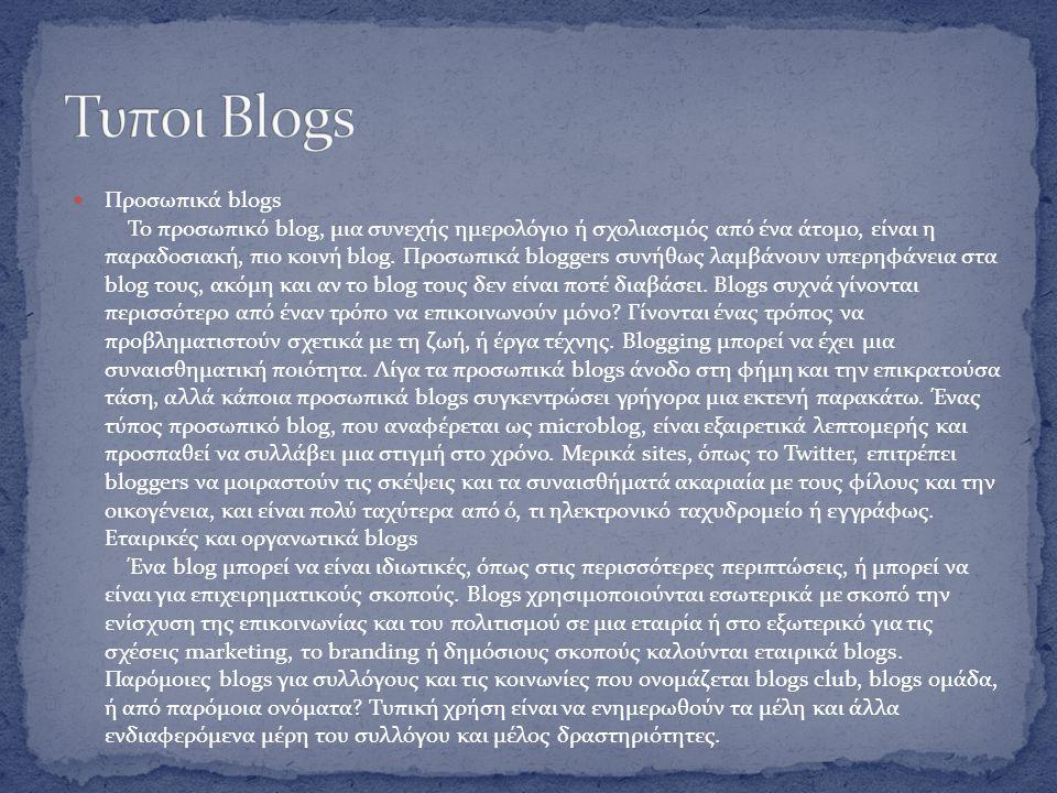 Ο όρος «weblog» επινοήθηκε από τον Jorn Barger στις 17 Δεκεμβρίου 1997.