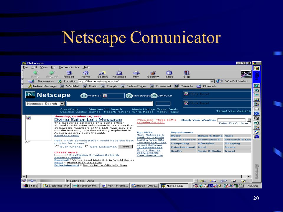 20 Netscape Comunicator