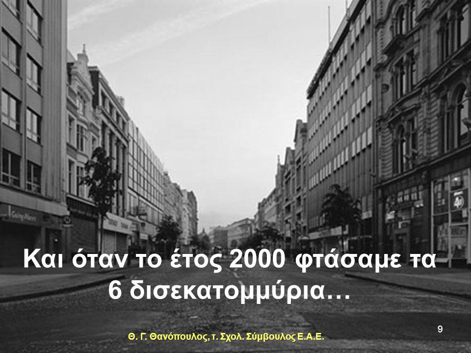 Παρατήρησε επίσης την αναδόμηση των πόλεων, η οποία προχωρούσε όπως και τα ανθρώπινα όντα και ήδη το 1965 ήμασταν 3 δισεκατομμύρια… 8