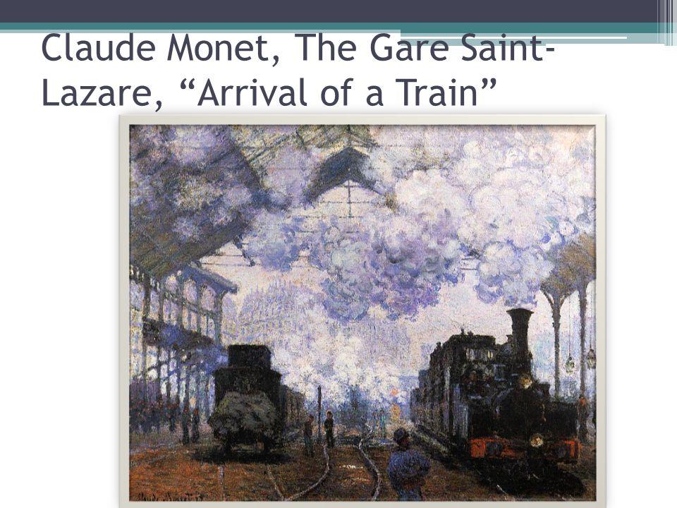 Claude Monet Saint-Lazare Station, the Western Region Goods Sheds