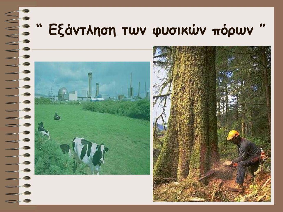 Εξάντληση των φυσικών πόρων