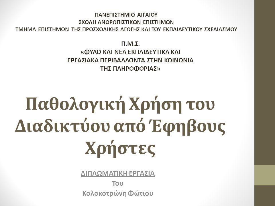 Δείγμα Έρευνας • 400 Μαθητές από Γυμνάσιο στην πόλη του Ηράκλειου Κρήτης.
