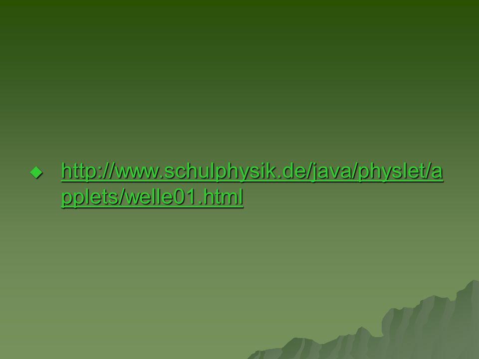  http://www.schulphysik.de/java/physlet/a pplets/welle01.html http://www.schulphysik.de/java/physlet/a pplets/welle01.html http://www.schulphysik.de/