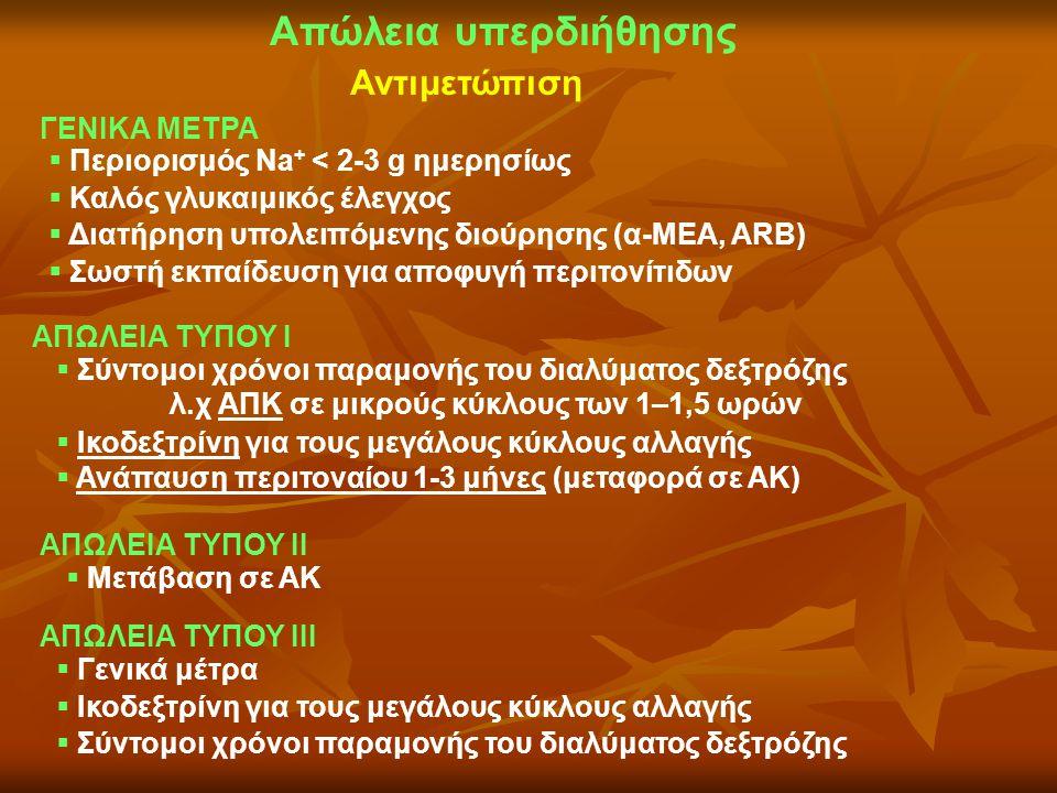 ΓΕΝΙΚΑ ΜΕΤΡΑ  Περιορισμός Νa + < 2-3 g ημερησίως  Καλός γλυκαιμικός έλεγχος  Διατήρηση υπολειπόμενης διούρησης (α-ΜΕΑ, ARB)  Σωστή εκπαίδευση για