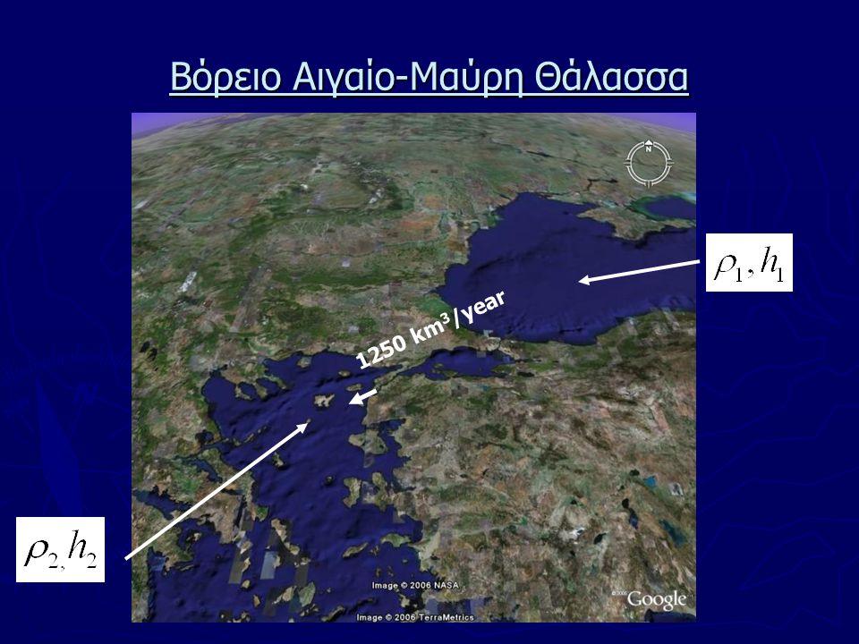 ► Δύσκολη ανταλλαγή υδάτων μεταξύ Βορείου και Νοτίου Αιγαίου για μεγάλα βάθη εξαιτίας της τοπογραφίας και μορφολογίας του πυθμένα.