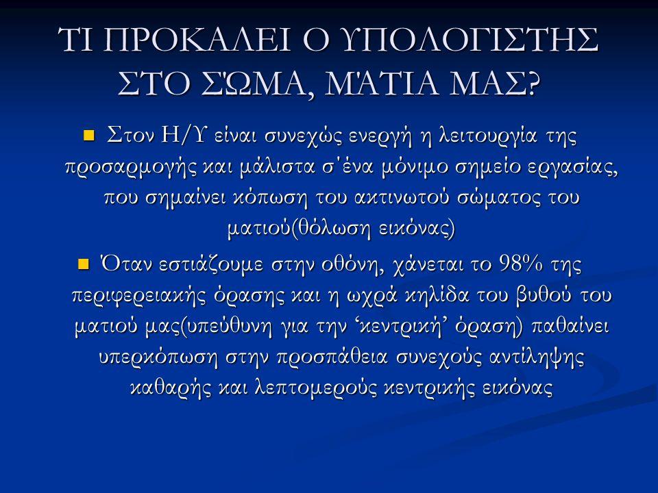 ΤΙ ΠΡΟΚΑΛΕΙ Ο ΥΠΟΛΟΓΙΣΤΗΣ ΣΤΟ ΣΏΜΑ, ΜΆΤΙΑ ΜΑΣ.