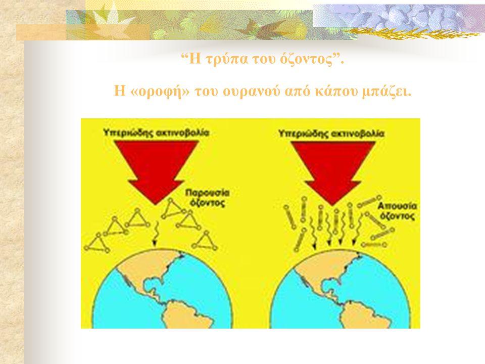 Διαχρονική Εξέλιξη Εκπεμπόμενων Ρύπων στην Ελλάδα  Στον Πίνακα παρουσιάζεται η αύξηση η η μείωση πέντε βασικών ρύπων που απελευθερώνονται στην ατμόσφαιρα.