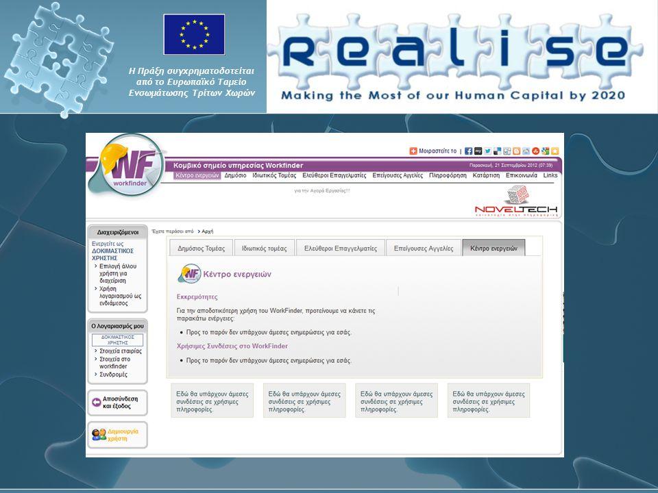 Η Πράξη συγχρηματοδοτείται από το Ευρωπαϊκό Ταμείο Ενσωμάτωσης Τρίτων Χωρών