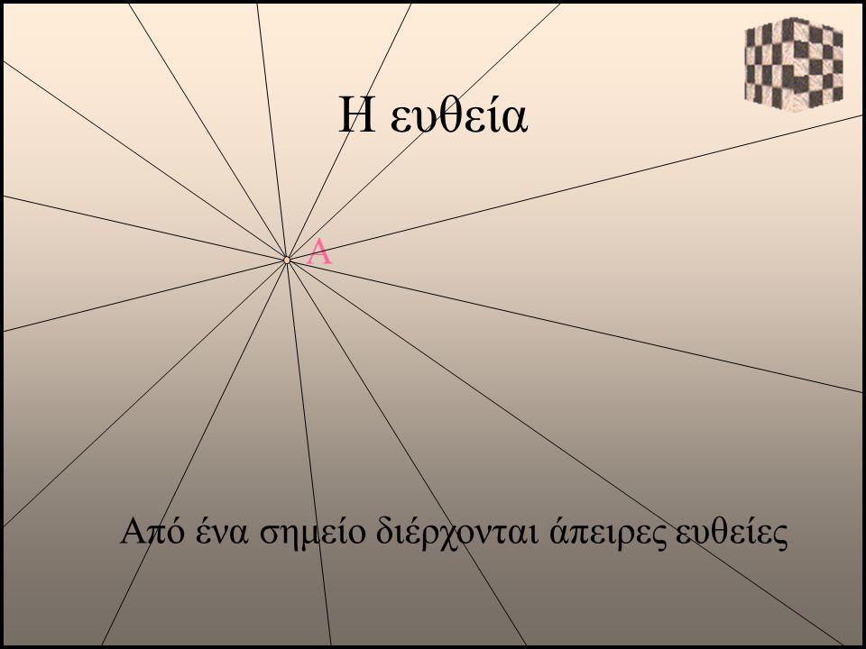 Η ευθεία Α Από ένα σημείο διέρχονται άπειρες ευθείες