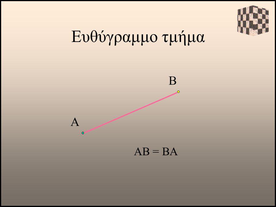 Α ΑΒ = ΒΑ Β