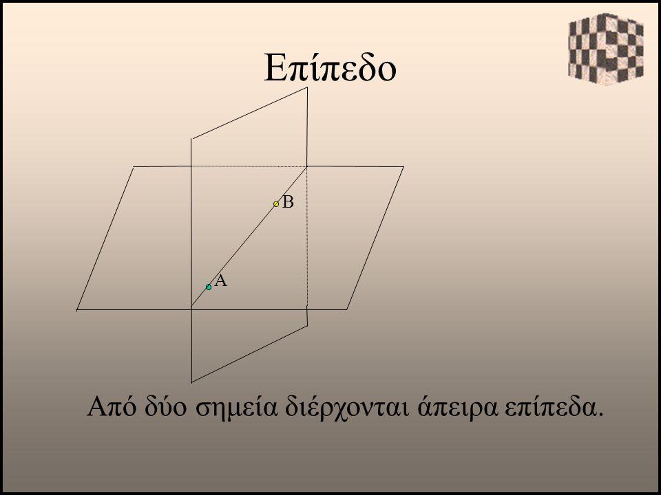 Επίπεδο Α Από δύο σημεία διέρχονται άπειρα επίπεδα. Β