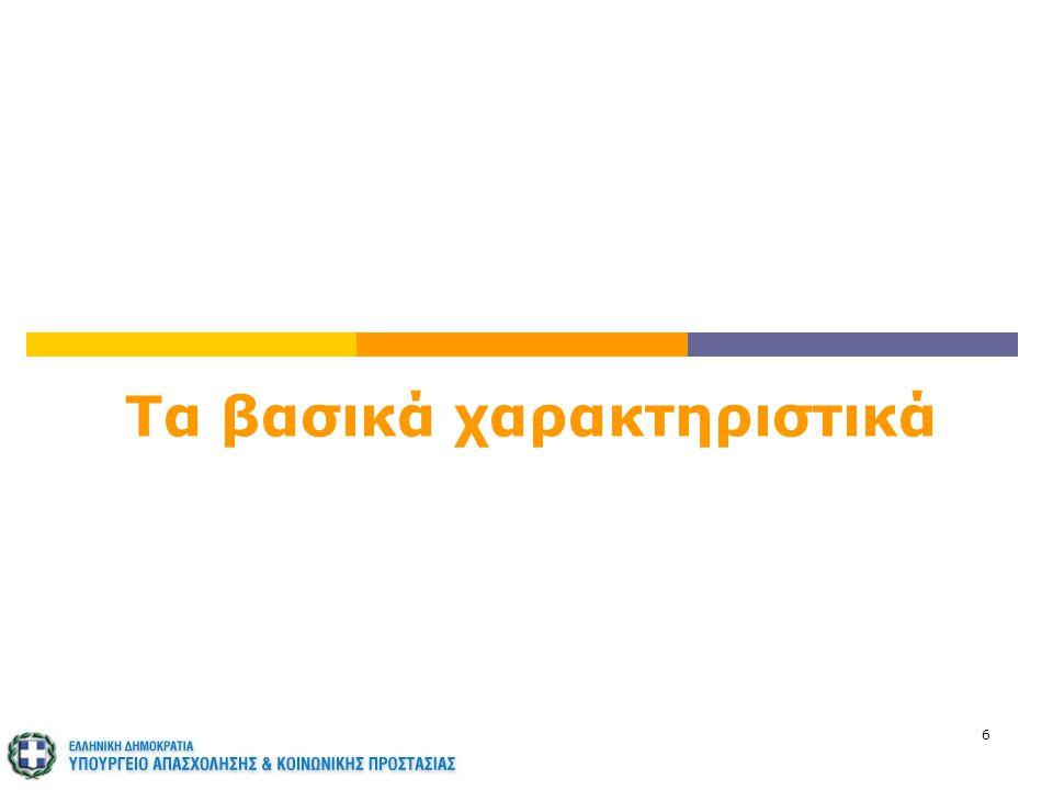 7 Οι σταθερές αρχές Το ελληνικό Σύστημα Κοινωνικής Ασφάλισης διέπεται από τις εξής σταθερές αρχές:  Δημόσιος, καθολικός, υποχρεωτικός και αναδιανεμητικός χαρακτήρας  Τριμερές μοντέλο χρηματοδότησης (εργαζόμενοι – εργοδότες - κράτος)  Αλληλεγγύη των γενεών Το κράτος, πάντα με πνεύμα κοινωνικής αλληλεγγύης, είναι ο τελικός εγγυητής της κάλυψης κινδύνων για τις παροχές των ασφαλισμένων